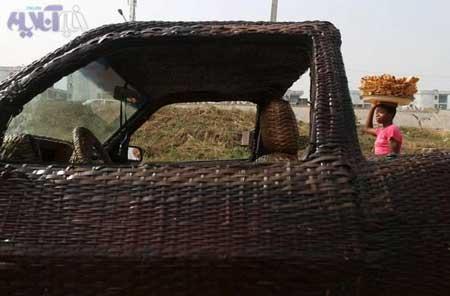اتومبیل جدید,اتومبیلی که با حصیر و کنف