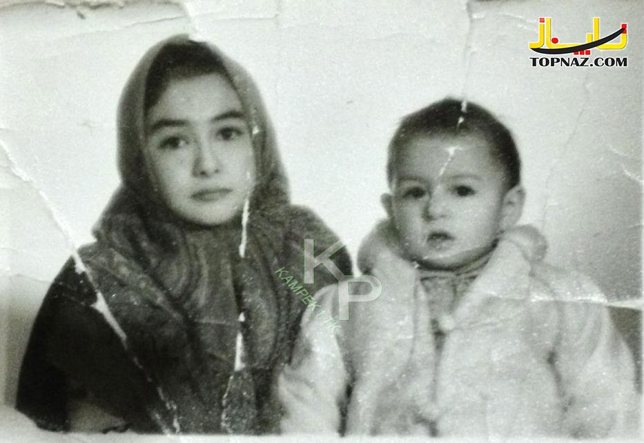 هانیه توسلی و خواهرش در کودکی
