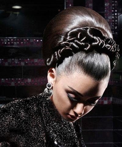 مدل زیبای شنیون موی عروس
