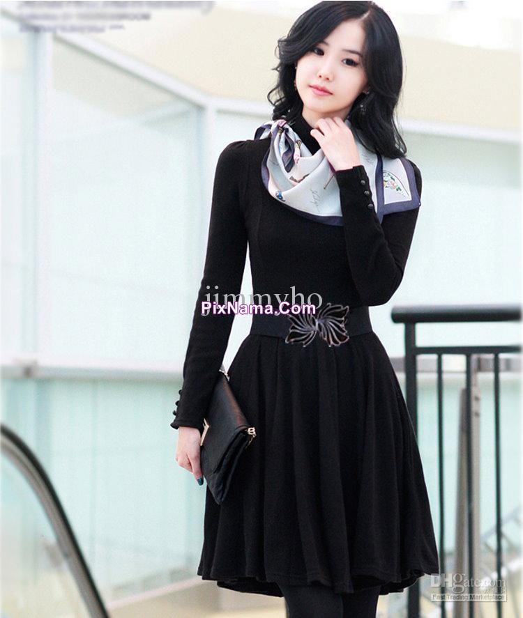 مدل مانتو و دستمال گردن دخترانه
