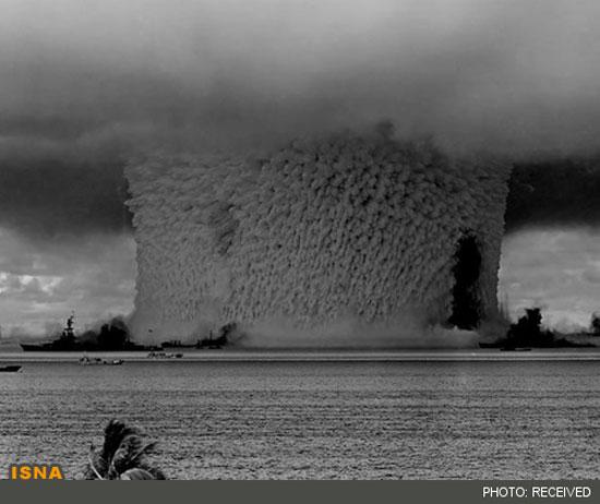 انفجار اتمی در اقیانوس