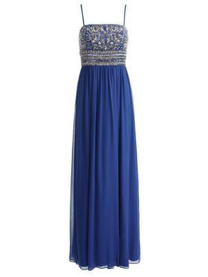مدل لباس شب آبی رنگ