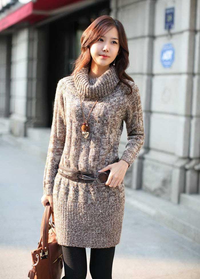 لباس گرم و بلند زمستانی دخترانه ۲۰۱۳