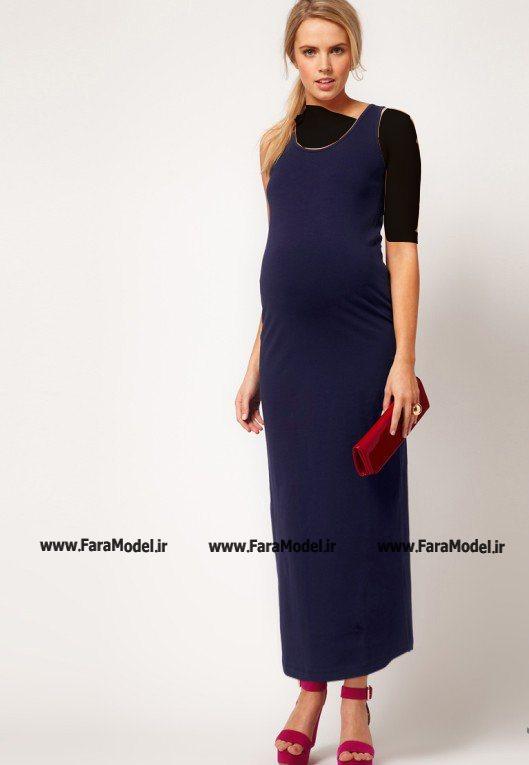 لباس مشکی مدل ماهی مدل لباس مجلسی بارداری ساده و شیک ۲۰۱۳