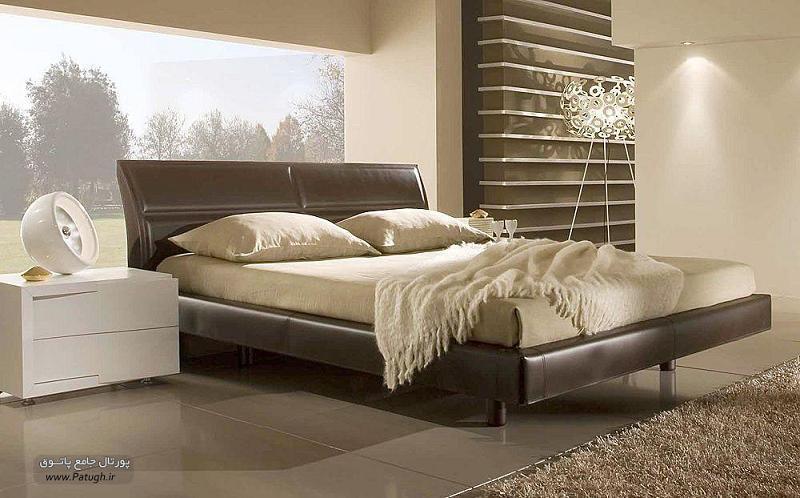 عکس تخت خواب مدل صدفی