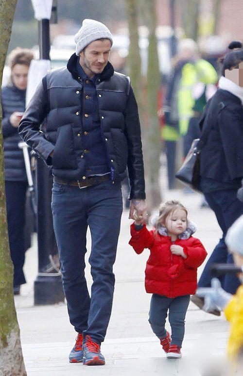 دیوید بکهام و دخترش
