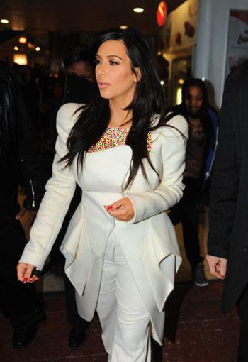 لباس های Kim kardashian , لباس Kim kardashian در هفته مد