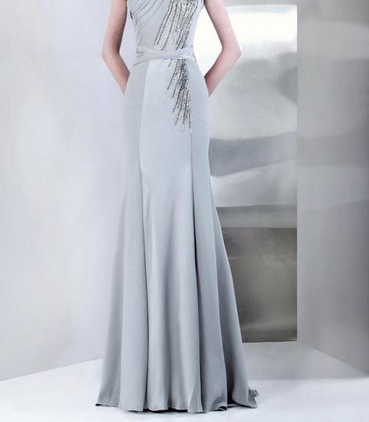لباس مجلسی نقره ای