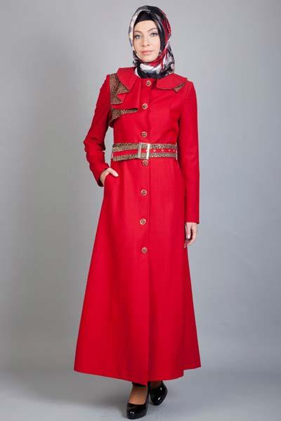 مدل مانتو قرمز 92