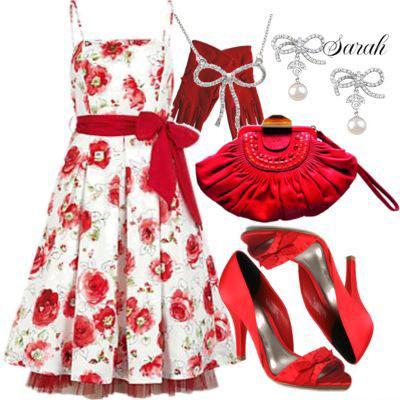 مدل لباس قرمز و صورتی