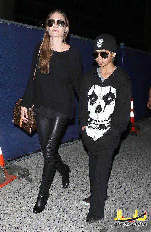 آنجلینا جولی و پسرش