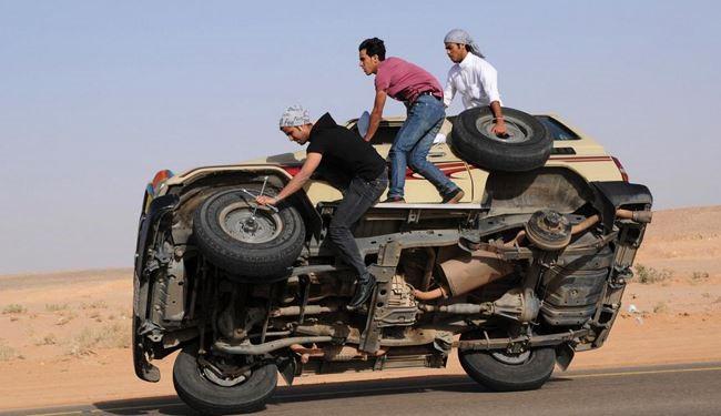 جنون رانندگی یا تفریح مرگبار در عربستان !