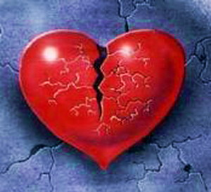اس ام اس تیکه دار, قلب شکسته