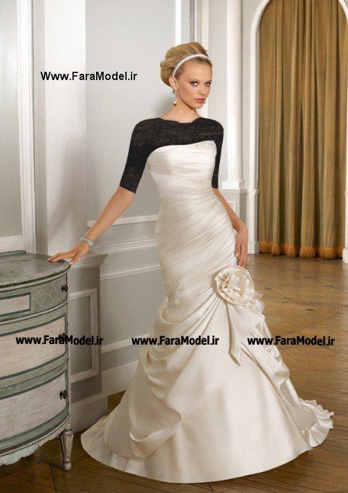 مدل لباس عروس مارکدار جدید