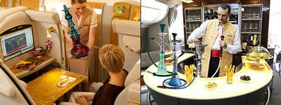 قلیان کشیدن در هواپیما, عرضه قلیان در هواپیما