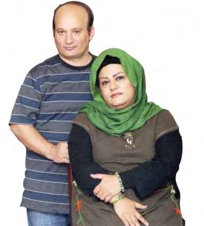 عکس قلقلی و همسرش