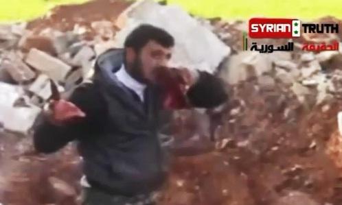 خوردن قلب شهروند سوریه, خوردن قلب, عکس از خوردن قلب