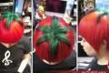 مدل موی عجیب شبیه گوجه فرنگی! +عکس