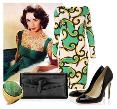 ست کردن لباس به سبک الیزابت تیلور Elizabeth Taylor