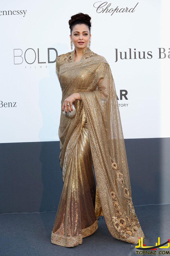 مدل آرایش و لباس مجلسی بلند هندی