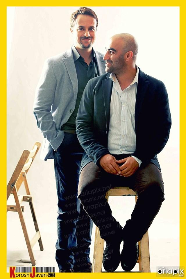 محسن تنابنده و  احمد مهرانفر بازیگران ایرانی