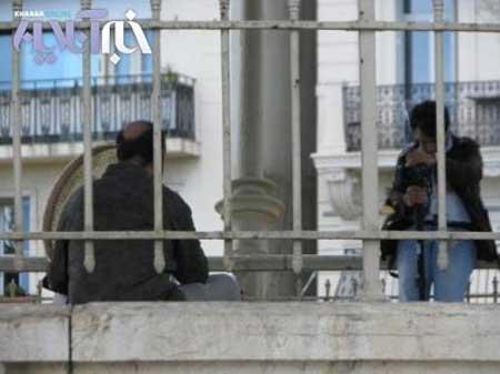 اولین عکس از پشت صحنه فیلم جدید رضا عطاران در کن