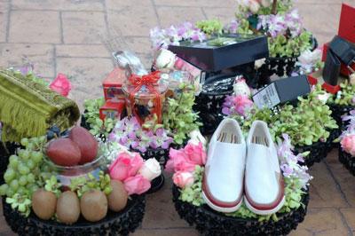 تزیین خرید عروس و داماد , مدل تزیینات خرید عروس و داماد