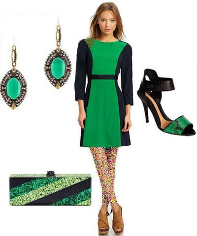 مدل لباس رنگ سال ,لباس های سبز مجله Elle