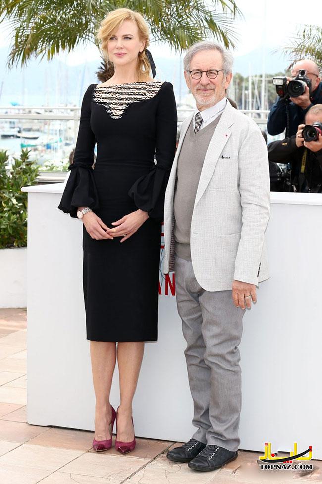استیون اسپیلبرگ، کارگردان آمریکایی و رئیس هیئت داوران، نیکول کیدمن، بازیگر استرالیایی و عضو هیئت داوران جشنواره فیلم کن 2013
