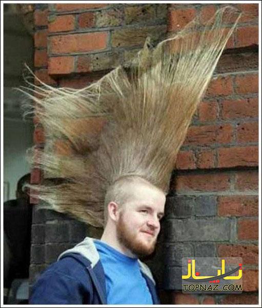 عکس مدل موی خنده دار