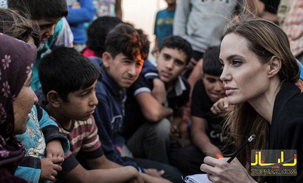 آنجلینا جولی  در اردن