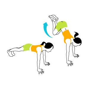 تمرین پرتاب پاها برای افزایش چربی سوزی