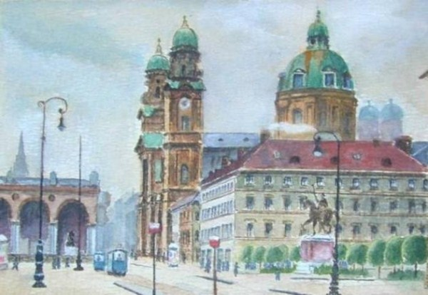 165 Paintings by Adolf Hitler (39 photos)