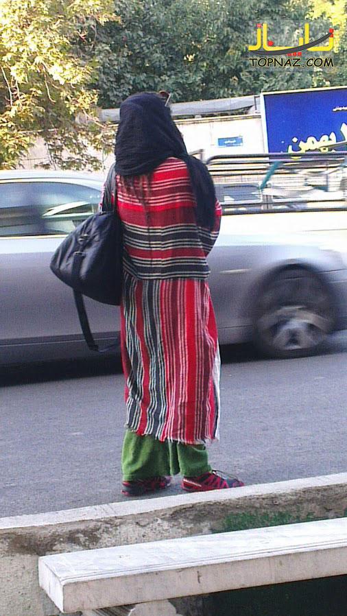 عجیب ترین مدل مانتو یک خانم تهرانی