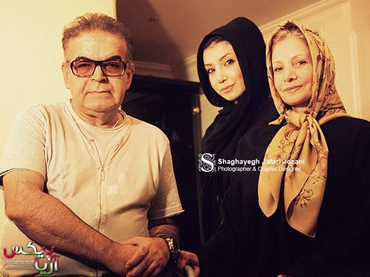 حمید لولایی همسر و دخترش