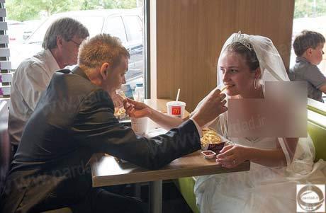 عکس عروس داماد از پشت