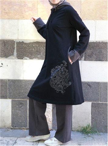 مدل مانتو طرح دار و بلند ایرانی (2)