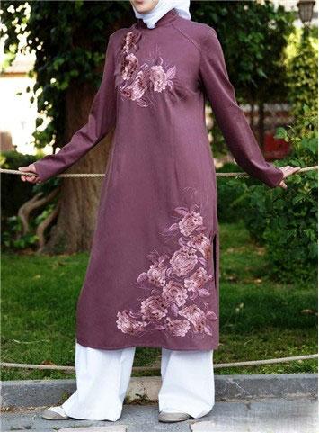 مدل مانتو طرح دار و بلند ایرانی (1)
