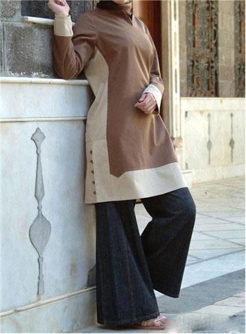 مدل مانتو طرح دار و بلند ایرانی (3)