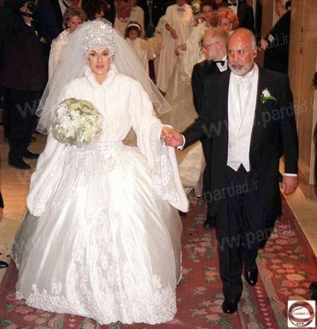 سلن دیون با همسرش
