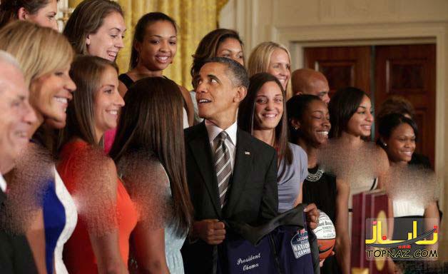 شوخی جالب دختران جوان با رئیس جمهور