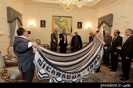 عکس هدیه جالب کشور نیکاراگوئه به حسن روحانی