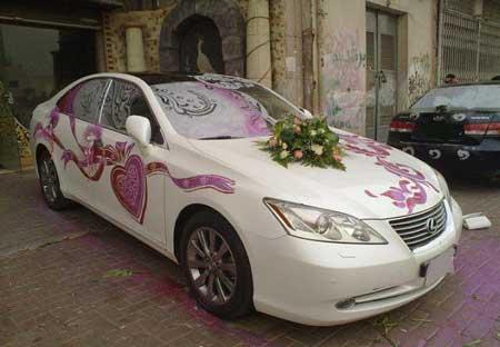 عکس از مدل تزئین ماشین عروس