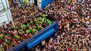 جشن پرتاب گوجه در اسپانیا