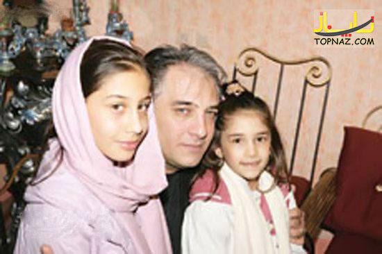 عکس ایرج نوذری و دو دخترش