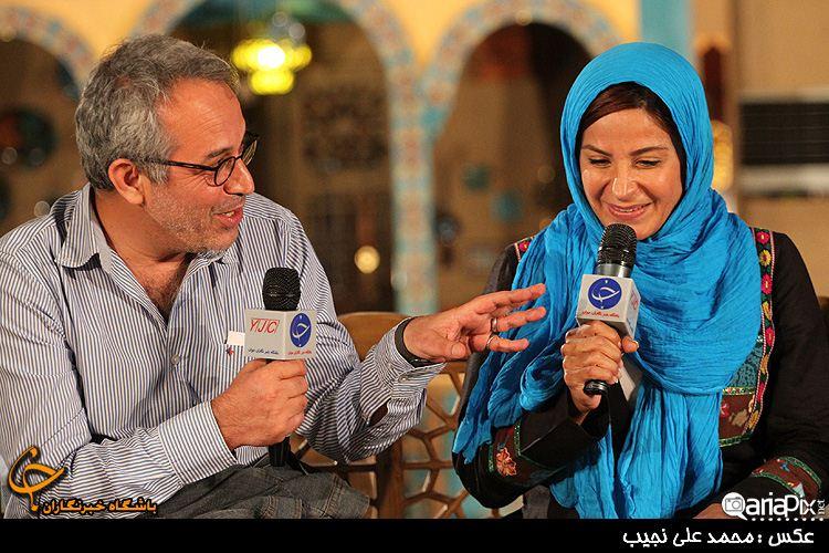 سیما تیرانداز و محمدحسین لطیفی کارگردان سریال دودکش