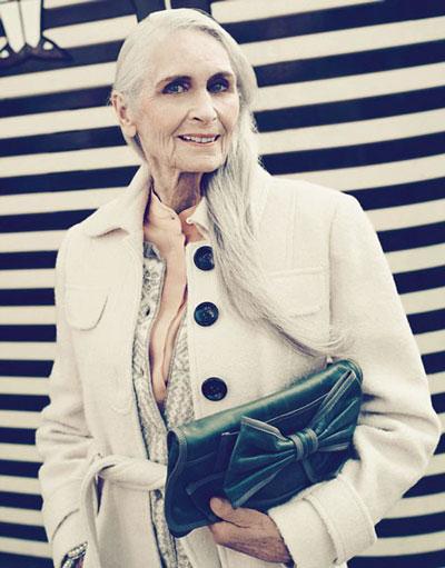 پیرزنی 85 ساله که سوپر مدل معروف است +عکس