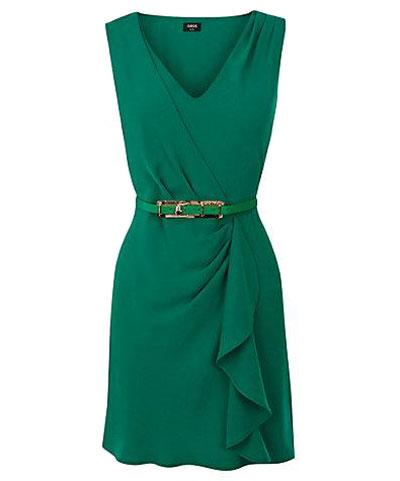 مدل لباس مجلسی سبز رنگ 2013