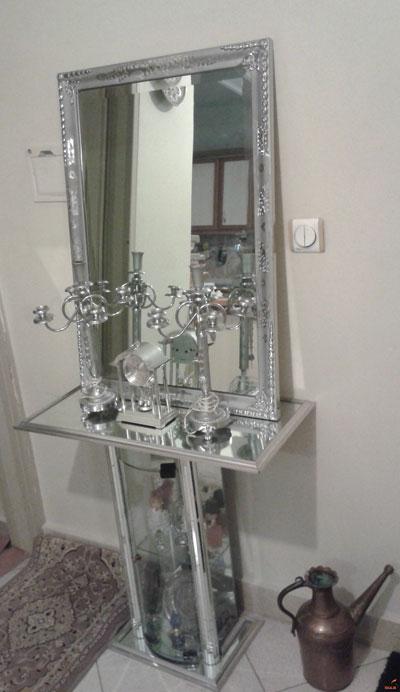 مدل آینه شمعدان, آینه وشمعدان