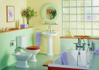 دکوراسیون حمام و دستشویی, چیدمان حمام